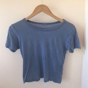 Brandy Melville blue t-shirt (slightly cropped)